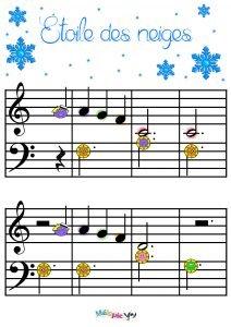 étoile Des Neiges Partition Et Activité De Musique Mélopie