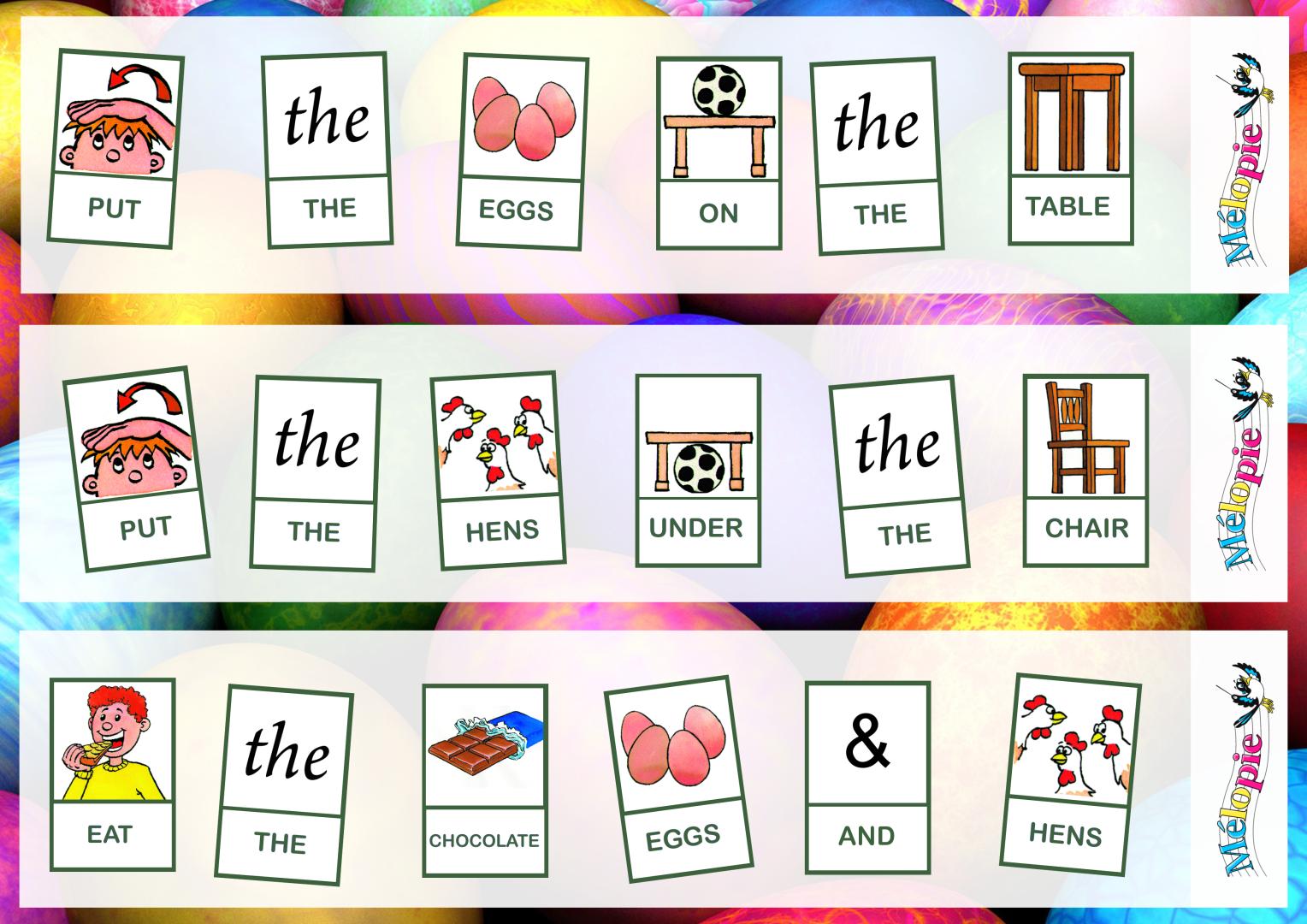 Coloriage De Paques En Anglais.Bricolage Paques Apprendre L Anglais En Jouant Melopie