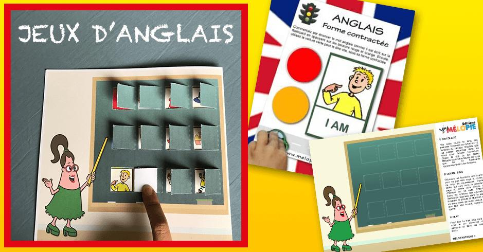 Jeux Pour Apprendre L Anglais Grammaire Vocabulaire Editions Melopie