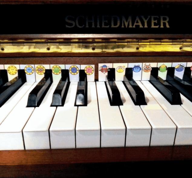 piano enfant repère