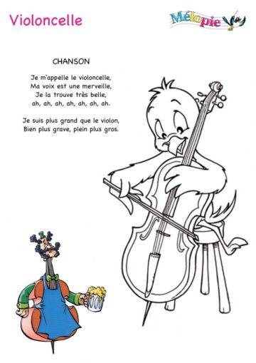 violoncelle dessin