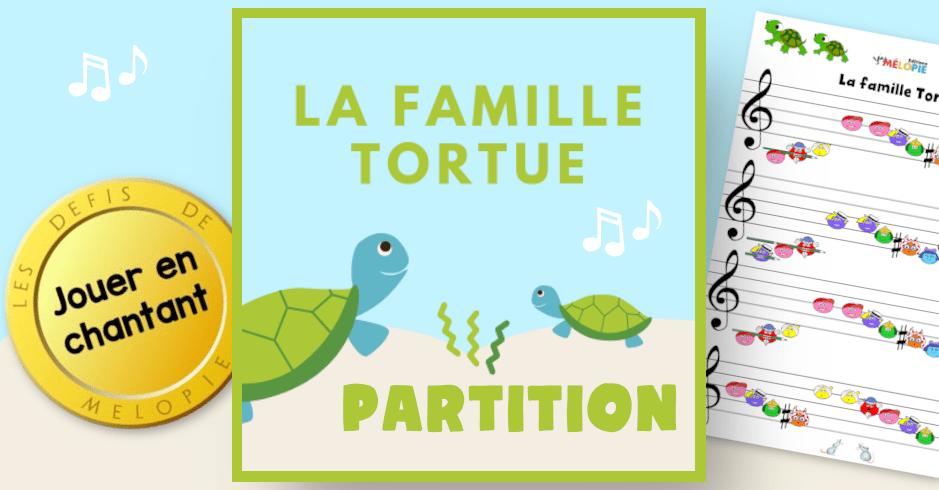 la famille tortue partition