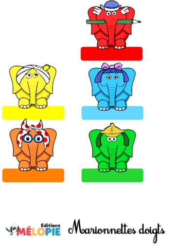 marionnettes doigt éléphant