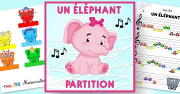 un éléphant qui se balançait partition