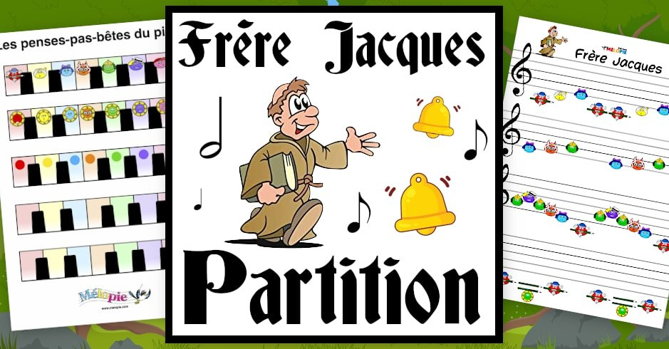 partition piano frere jacques